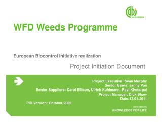 WFD Weeds Programme