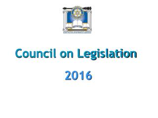 Council on Legislation