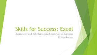 Skills for Success: Excel