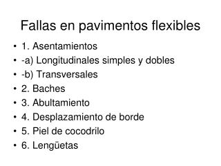 Fallas en pavimentos flexibles