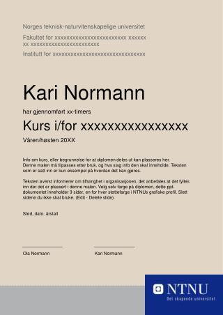 Norges teknisk-naturvitenskapelige universitet Fakultet for xxxxxxxxxxxxxxxxxxxxxxxx xxxxxx