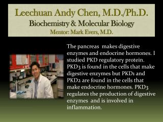 Leechuan Andy Chen, M.D./Ph.D. Biochemistry & Molecular Biology Mentor: Mark Evers, M.D.