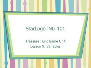 StarLogoTNG 101
