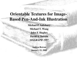 Orientable Textures for Image-Based Pen-And-Ink Illustration
