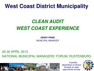 West Coast District Municipality