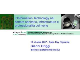 L'Information Technology nel settore sanitario, infrastrutture e professionalità coinvolte