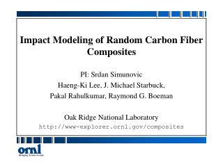Impact Modeling of Random Carbon Fiber Composites