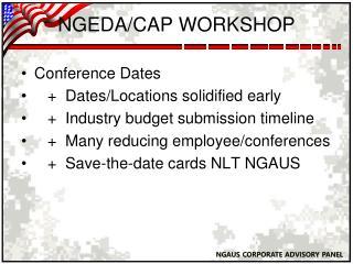 NGEDA/CAP WORKSHOP
