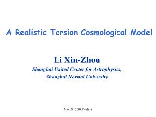 A Realistic Torsion Cosmological Model