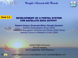 DEVELOPMENT OF A PORTAL SYSTEM FOR SATELLITE DATA OUTPUT