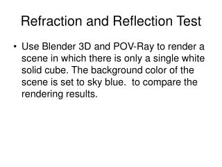 Refraction and Reflection Test