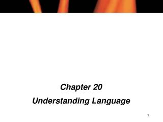 Chapter 20 Understanding Language
