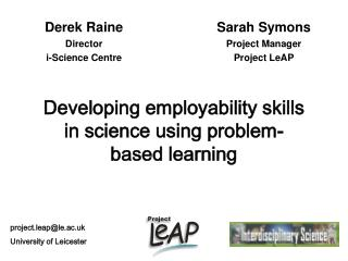 Developing employability skills in science using problem-based learning
