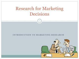 Research for Marketing Decisions
