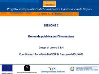 Progetto  Sostegno alle Politiche di Ricerca e Innovazione delle Regioni