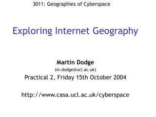 Exploring Internet Geography