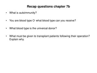 Recap questions chapter 7b