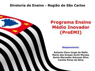 Diretoria de Ensino - Regi�o de S�o Carlos