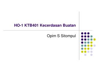 HO-1 KTB401 Kecerdasan Buatan