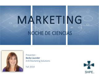 MARKETING NOCHE DE CIENCIAS
