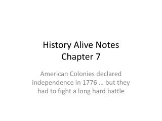History Alive Notes  Chapter 7
