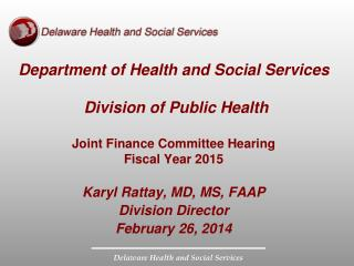 Department of Health and Social Services  Division of Public Health