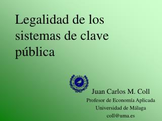 Legalidad de los sistemas de clave pública