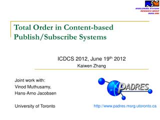 Total Order in Content-based Publish/Subscribe Systems