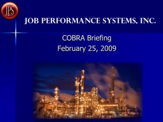 COBRA Briefing  February 25, 2009