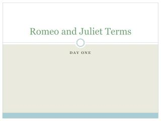 Romeo and Juliet Terms
