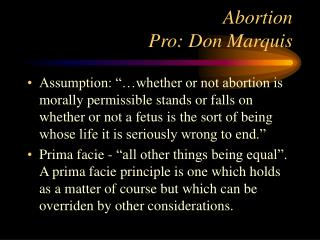 Abortion Pro: Don Marquis