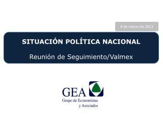 SITUACIÓN POLÍTICA NACIONAL Reunión de Seguimiento/ Valmex