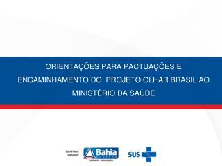 ORIENTAÇÕES PARA PACTUAÇÕES E ENCAMINHAMENTO DO  PROJETO OLHAR BRASIL AO MINISTÉRIO DA SAÚDE