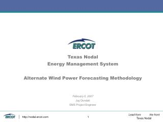 Wind Power Forecasting Methodology Issues