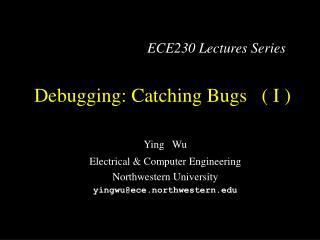 Debugging: Catching Bugs   ( I )