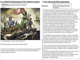 B. La libert  d expression et les r seaux sociaux