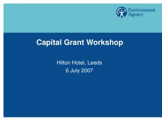 Capital Grant Workshop