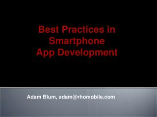 Adam Blum, adam@rhomobile