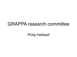 GRAPPA research committee