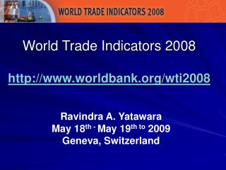 4th Thematic Category of the World Trade Indicators WTI ...