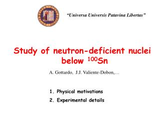 Study of neutron-deficient nuclei below  100 Sn