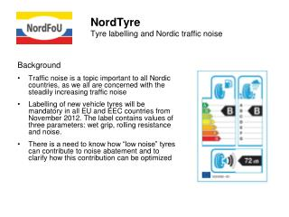 NordTyre Tyre labelling and Nordic traffic noise