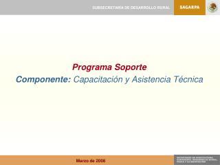 Programa Soporte Componente: Capacitación y Asistencia Técnica