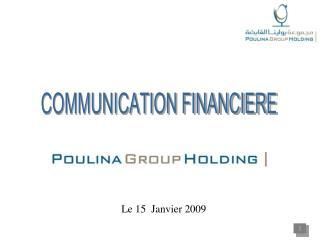 Le 15  Janvier 2009