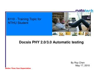 6110 - Training Topic for NTHU Student