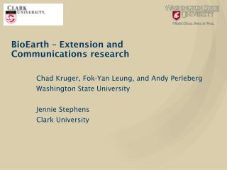 BioEarth  – Extension and Communications research