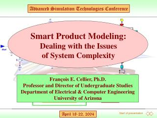 Smart Product Modeling: Dealing with the Issues of System Complexity