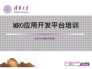 MRO 应用开发平台培训