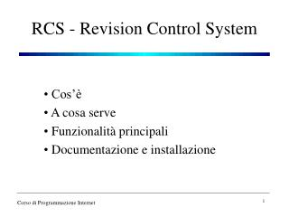 RCS - Revision Control System