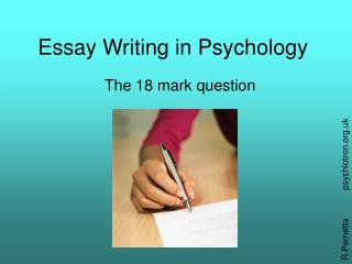 Essay Writing in Psychology